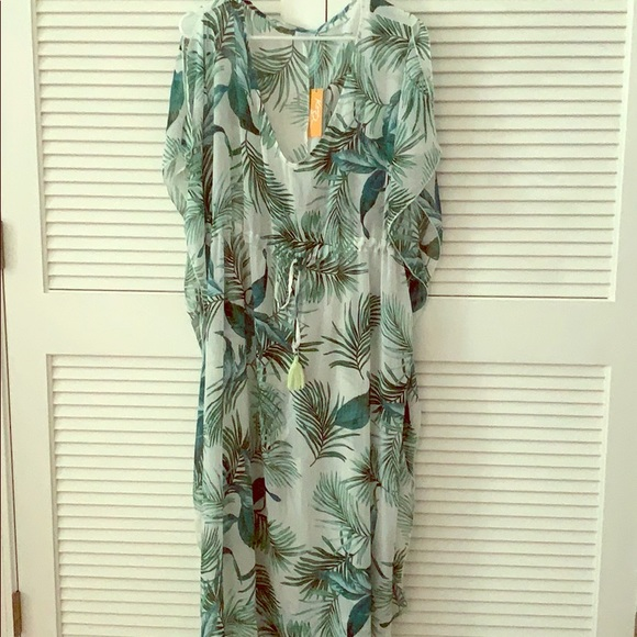 Target Other - Sheer Floral Bathing Suit Cover-Up